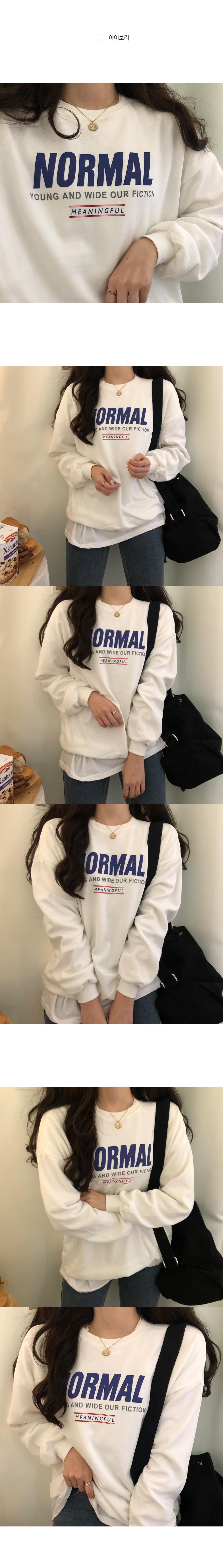 Normal Lettering Overfit Sweatshirt