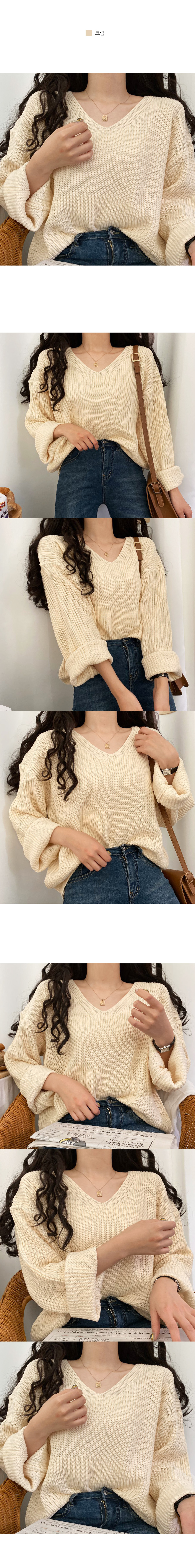 Jay Hachi V-Neck Loose Fit Knit