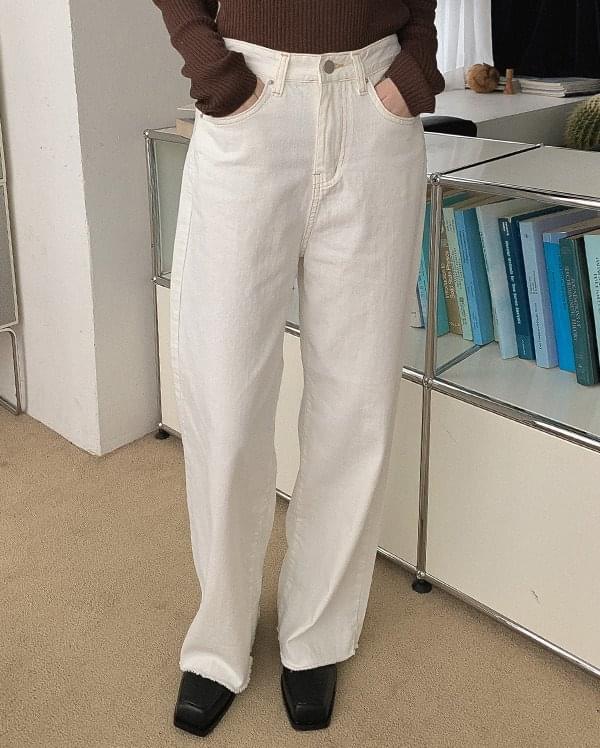 Toy cut wide pants