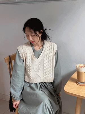 韓國空運 - Fish Twisted vest 針織外套