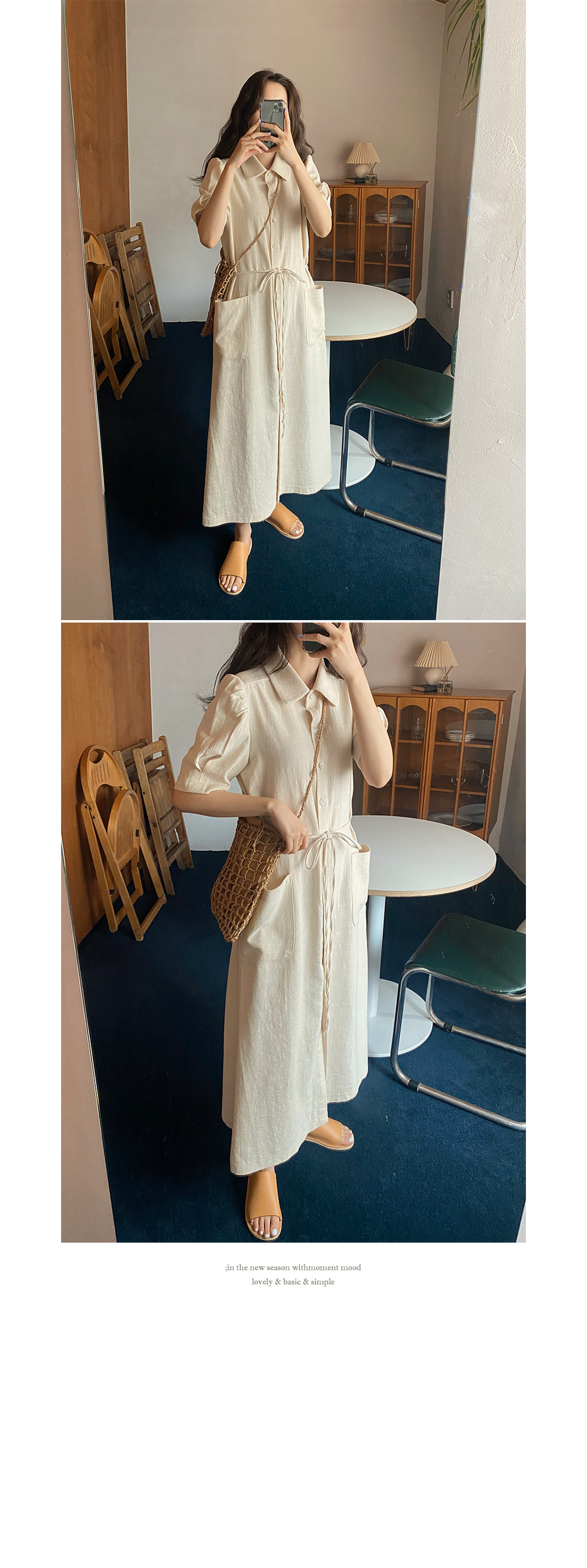 Garret linen dress