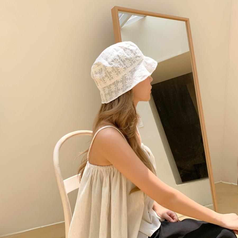 Flower Lace Short-Cut Bungee Hat 2color