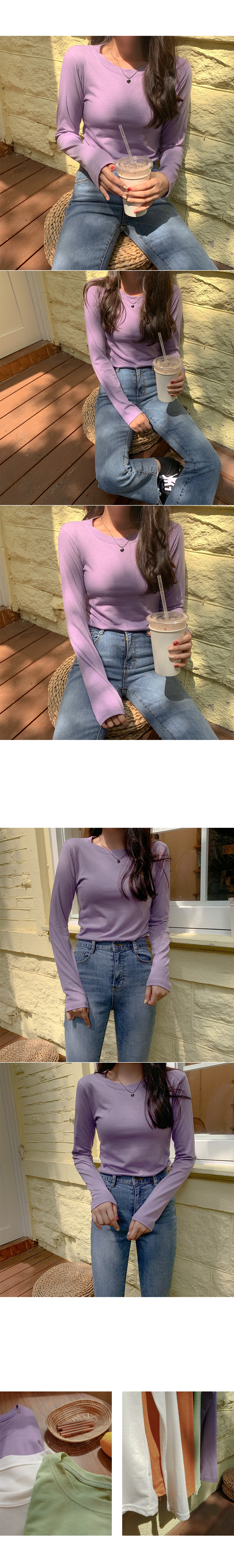 1+1 Special Product US Round Long Sleeve Tee