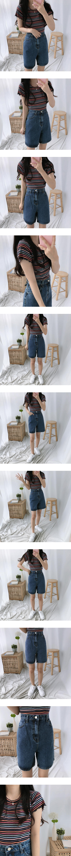 High-West Part 4 Denim Shorts