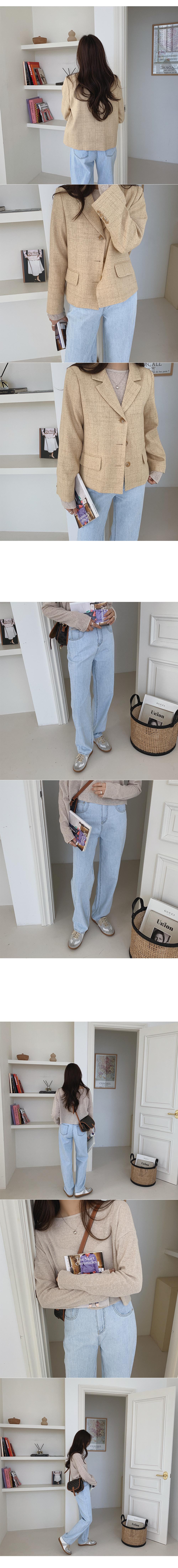 Moden linen short jacket