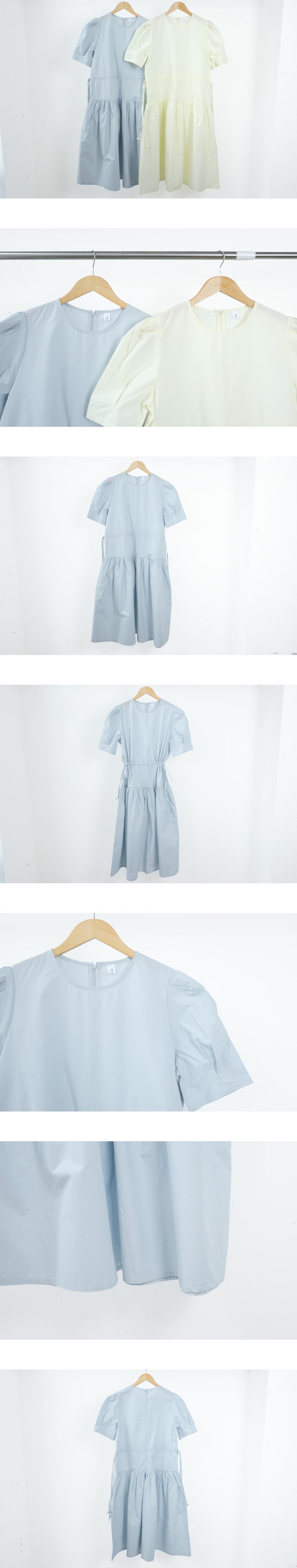 Powder Shirring Cancan Long Dress