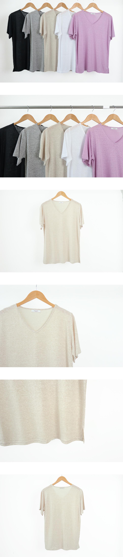 Catch V-neck short sleeve t-shirt