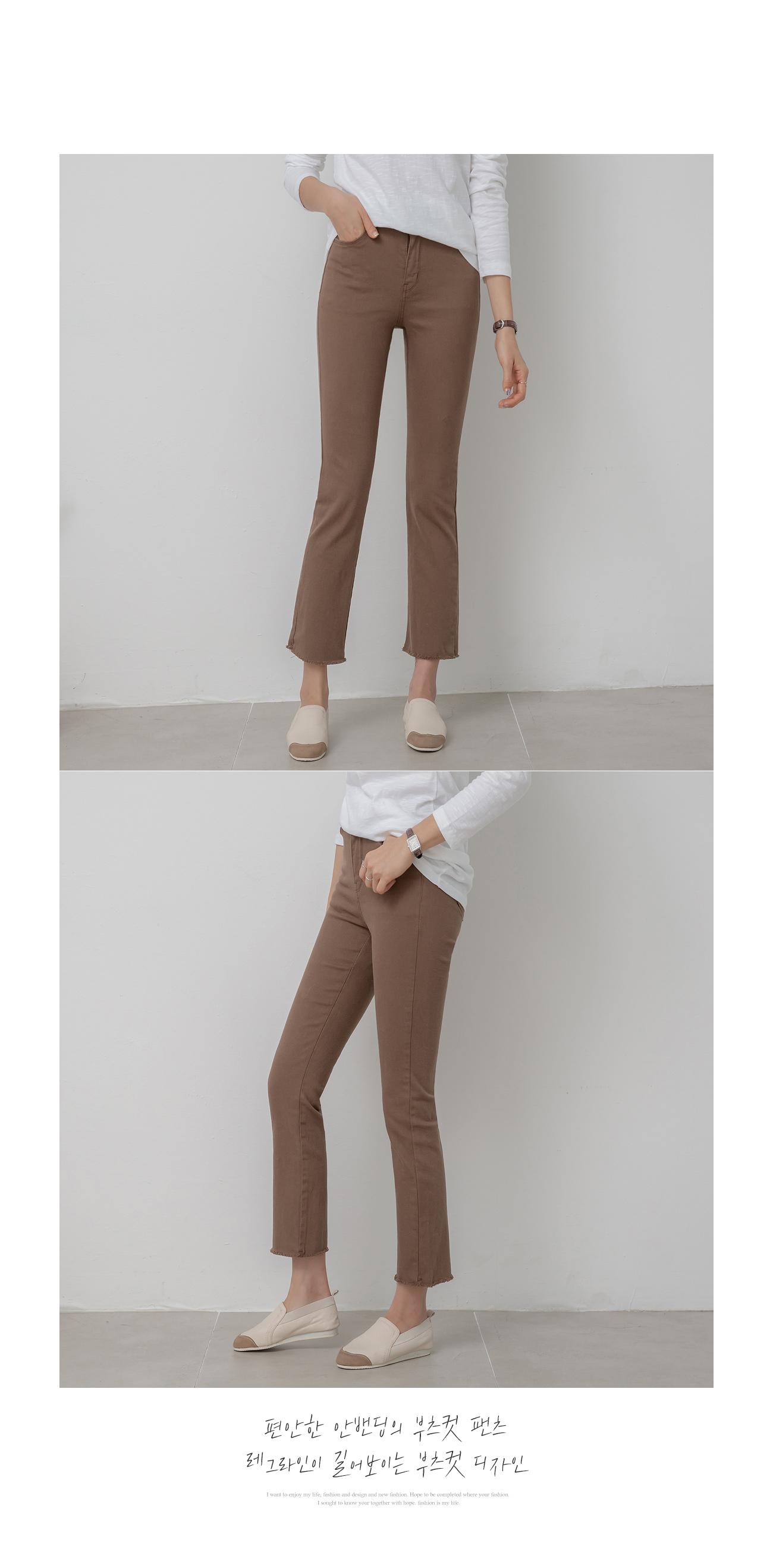 Hidden banding Flared pants Daily # 75125
