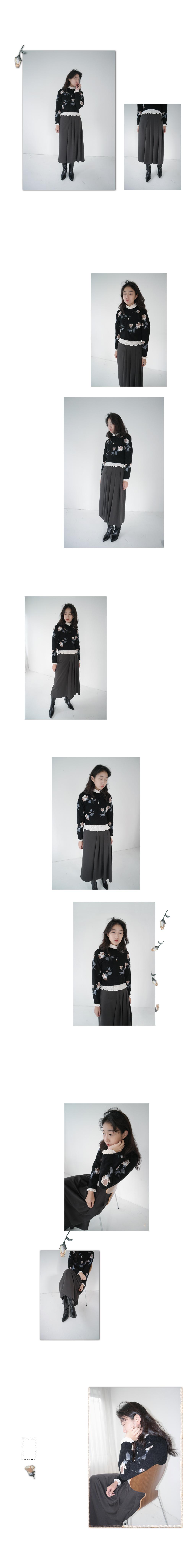 half pleats skirt (2colors)