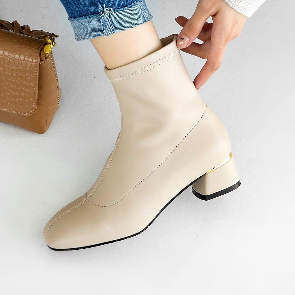 Piez Socks Ankle Boots 4cm