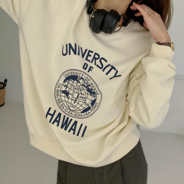 Wearable loose fit printed sweatshirt
