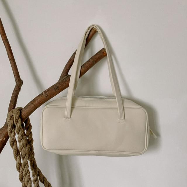 Simple Square Leather Shoulder Bag
