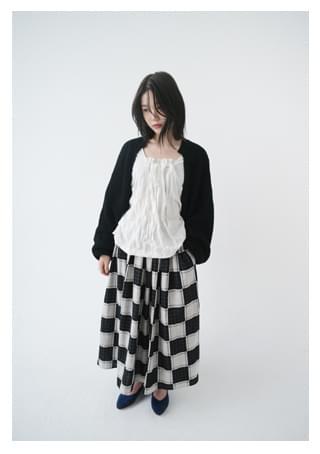 checkerboard skirt スカート