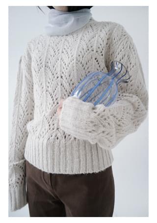 soft cozy leaf knit