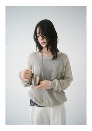 natural loose-fit knit ニット