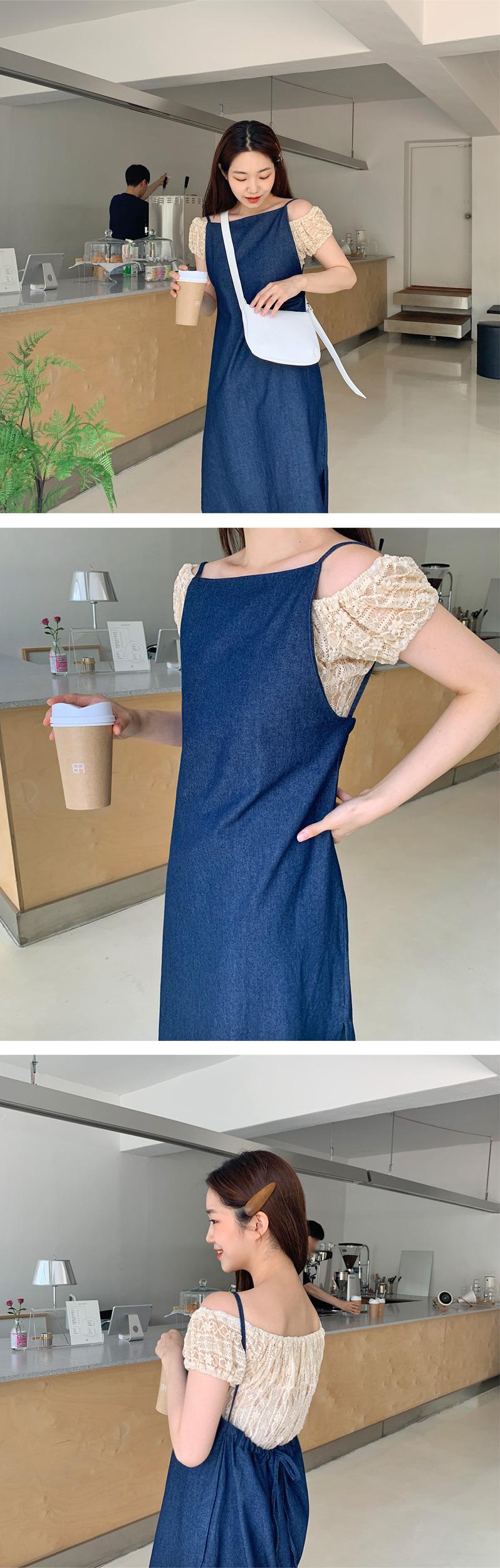 Lace off shoulder blouse_H