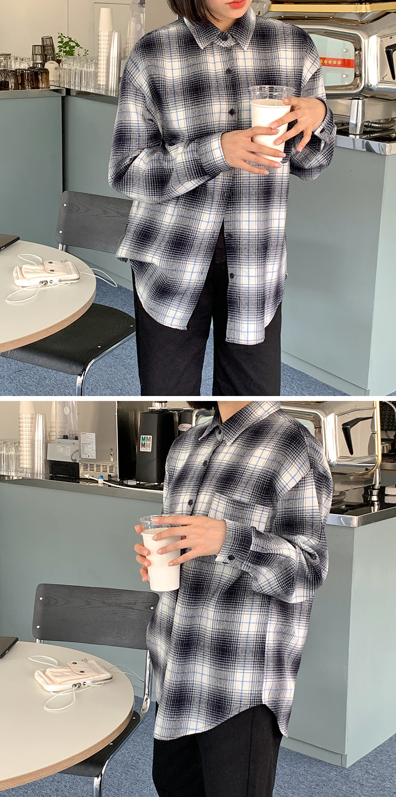 Sketch overfit check shirt