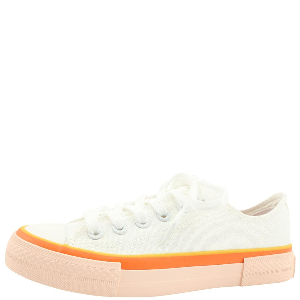 Two-tone canvas sneakers pink