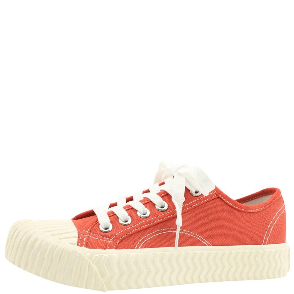 Canvas Painting Pastel Tone Sneakers Red