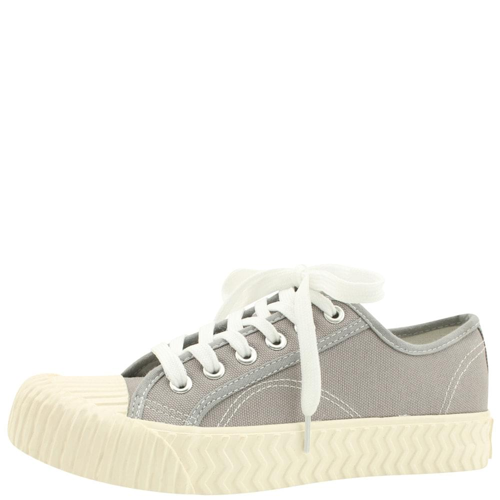 Canvas Painting Pastel Tone Sneakers Gray