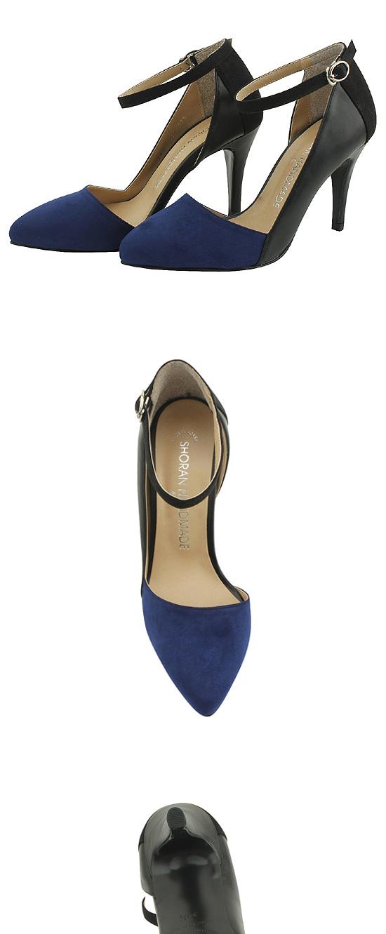 Two-tone Mary Jane Stiletto Heel Navy