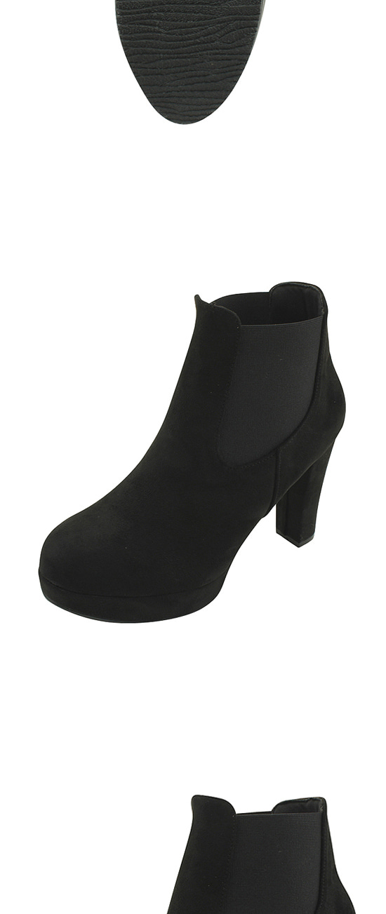 Suede Chelsea ankle boots high heels