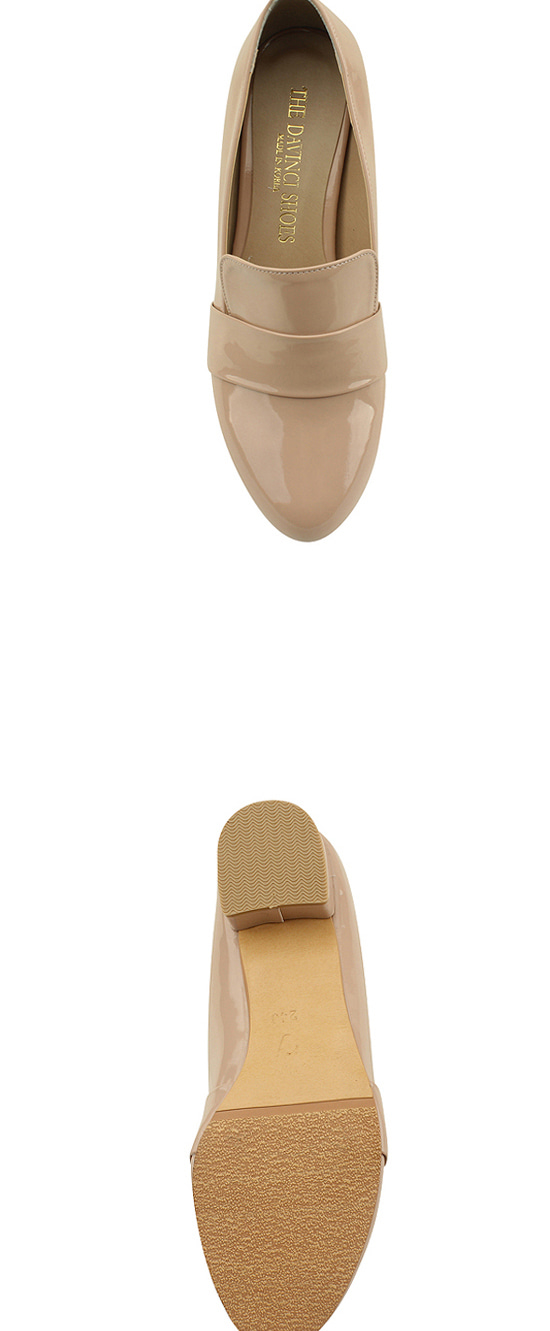 3cm enamel loafers pink