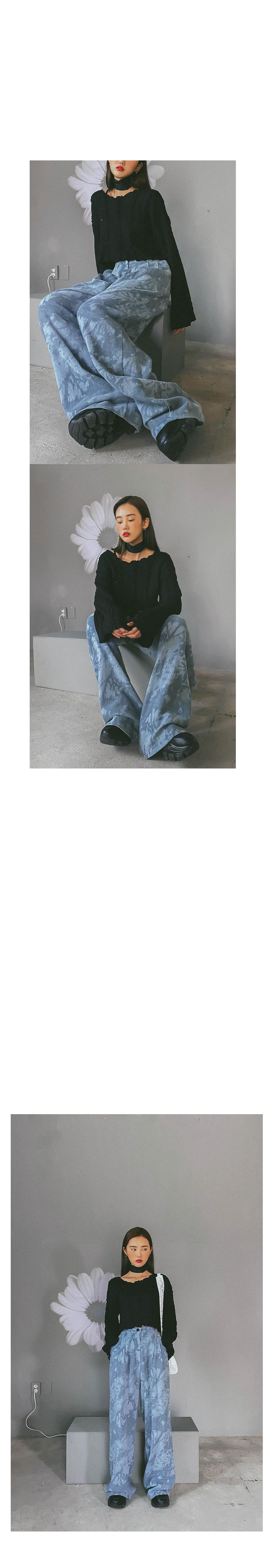Tie-dye haydy wide long pants