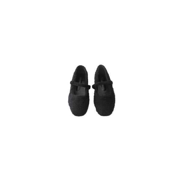 angora strap flat shoes