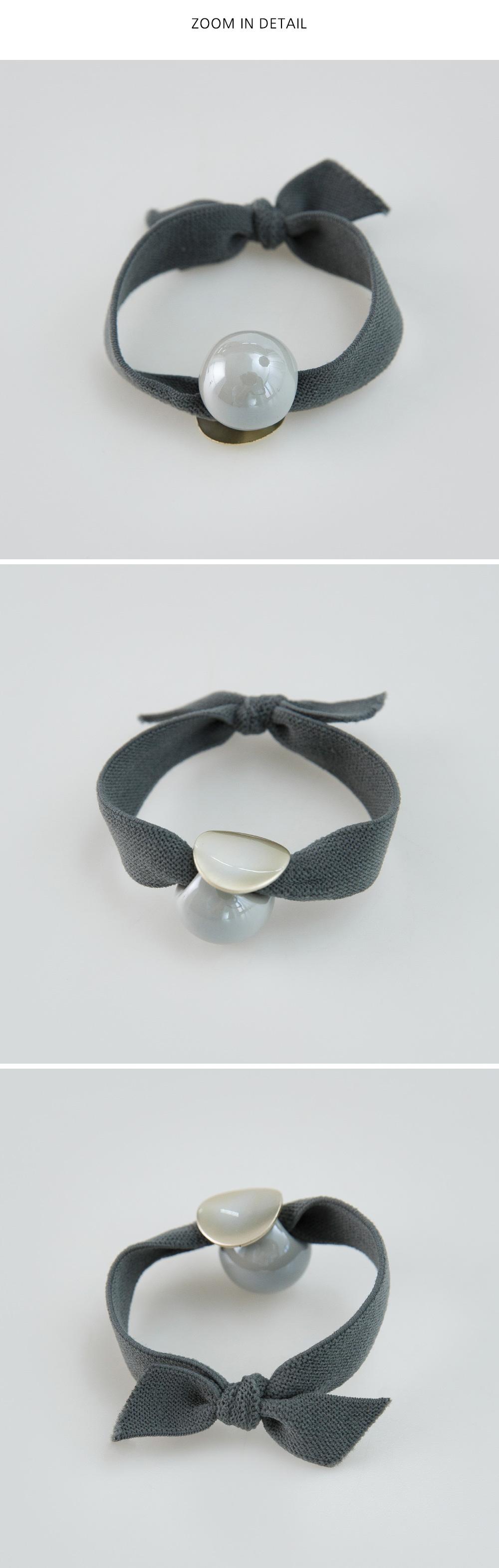 Ball pendant color hair strap