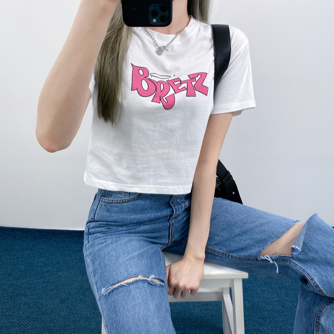 Wing cropped t-shirt