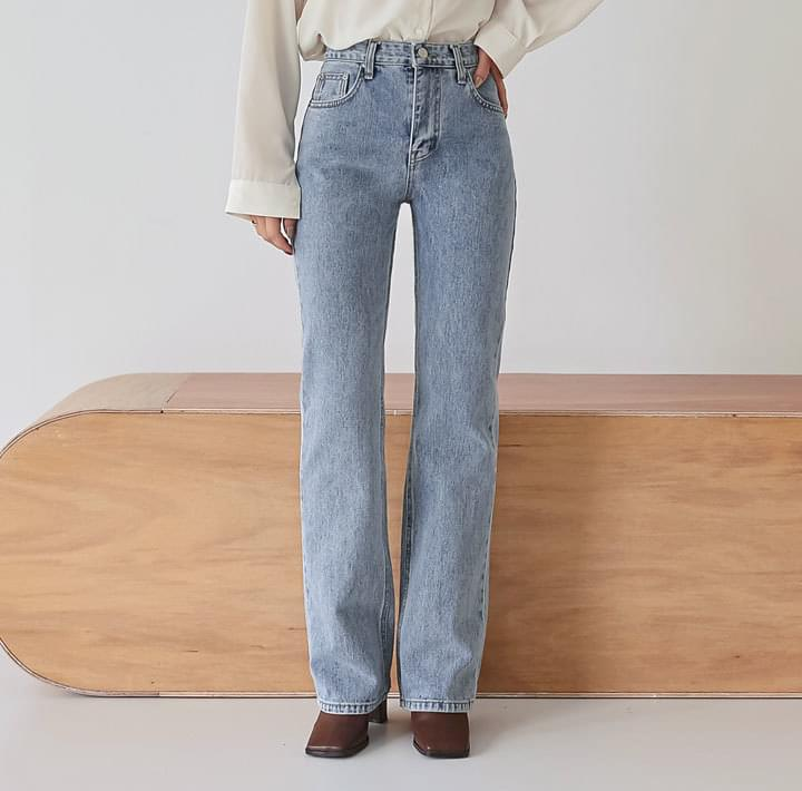 PAST SEMI BOOTS DENIM PANTS