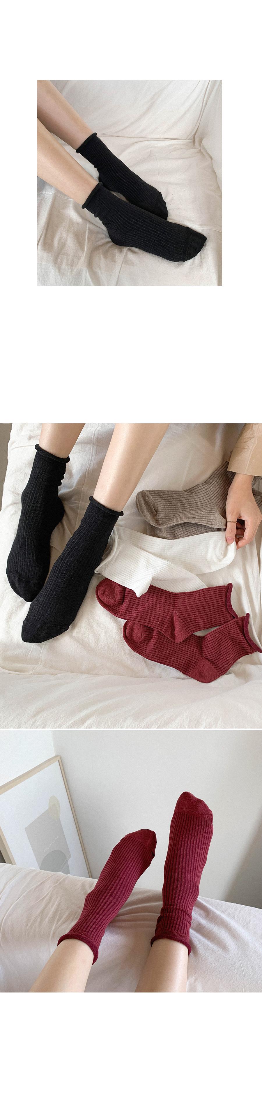 Ribbed socks