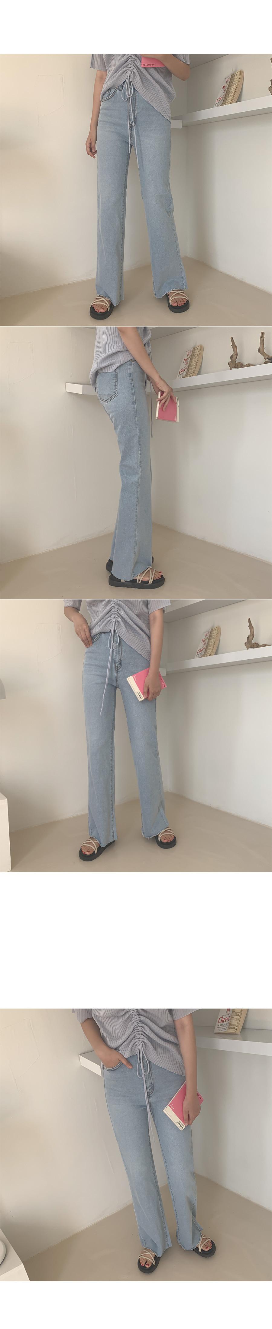 Asai boots cut denim pants