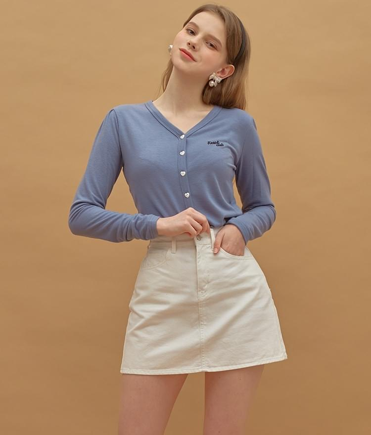 Heart Button Point Top