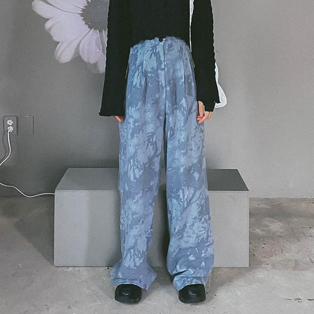 Tie-dye haydy wide long pants 長褲