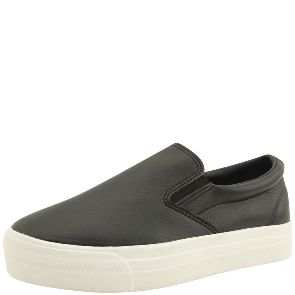 Cowhide Daily Slip-on Shoes Black