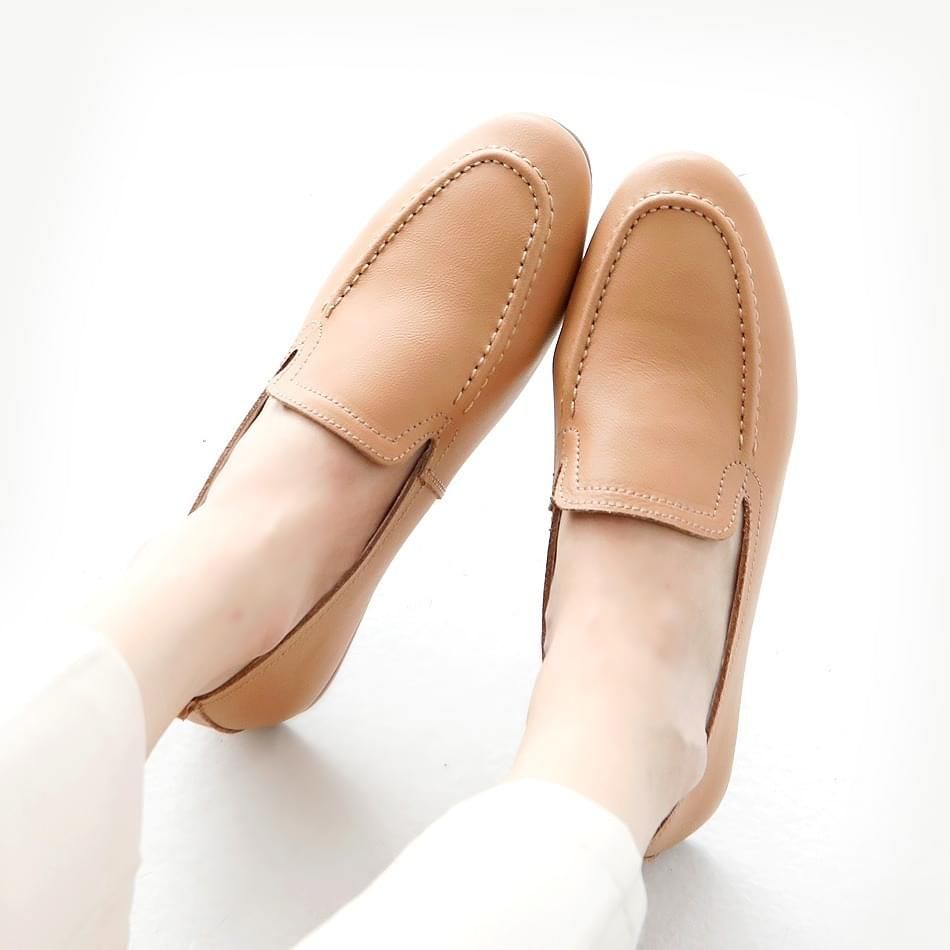 Keyfea leather height loafers 3cm 樂福鞋