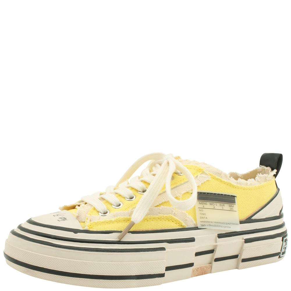 Vintage Faded Unique Sneakers Yellow