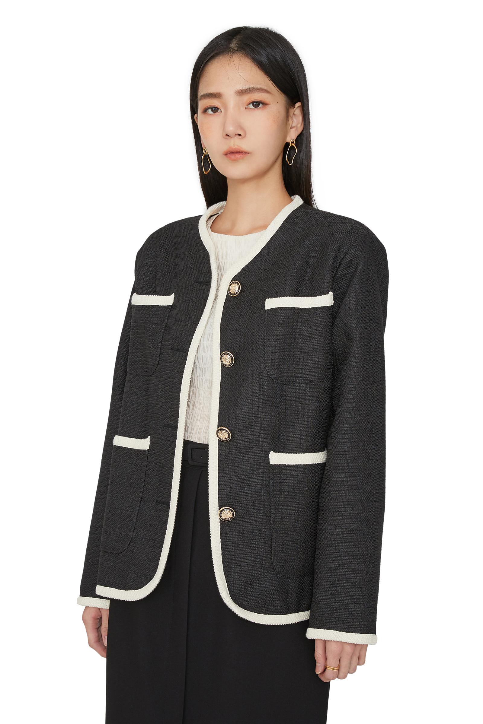 Sander pocket tweed jacket