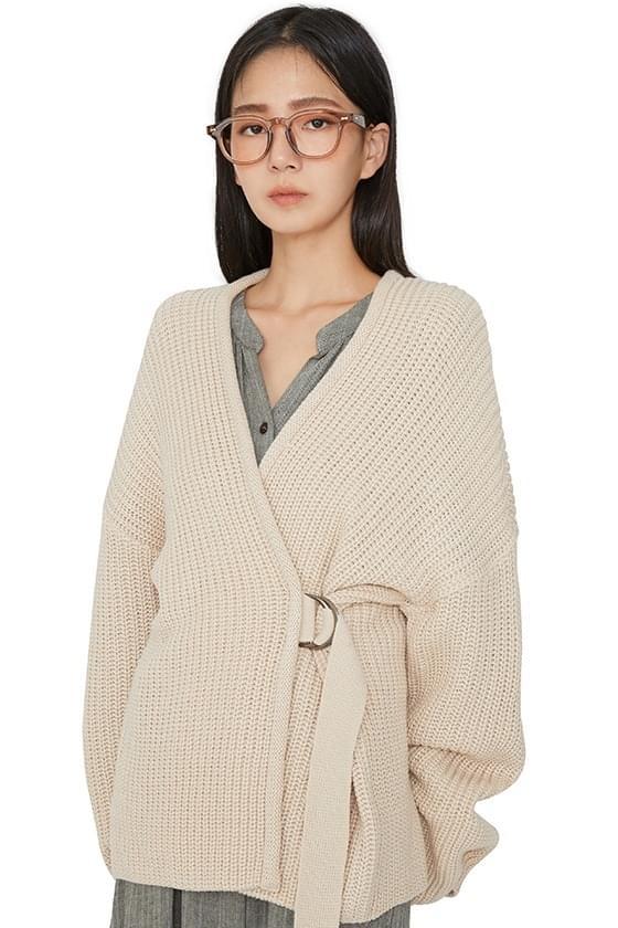 Heidi buckle-over knit cardigan カーディガン / ベスト