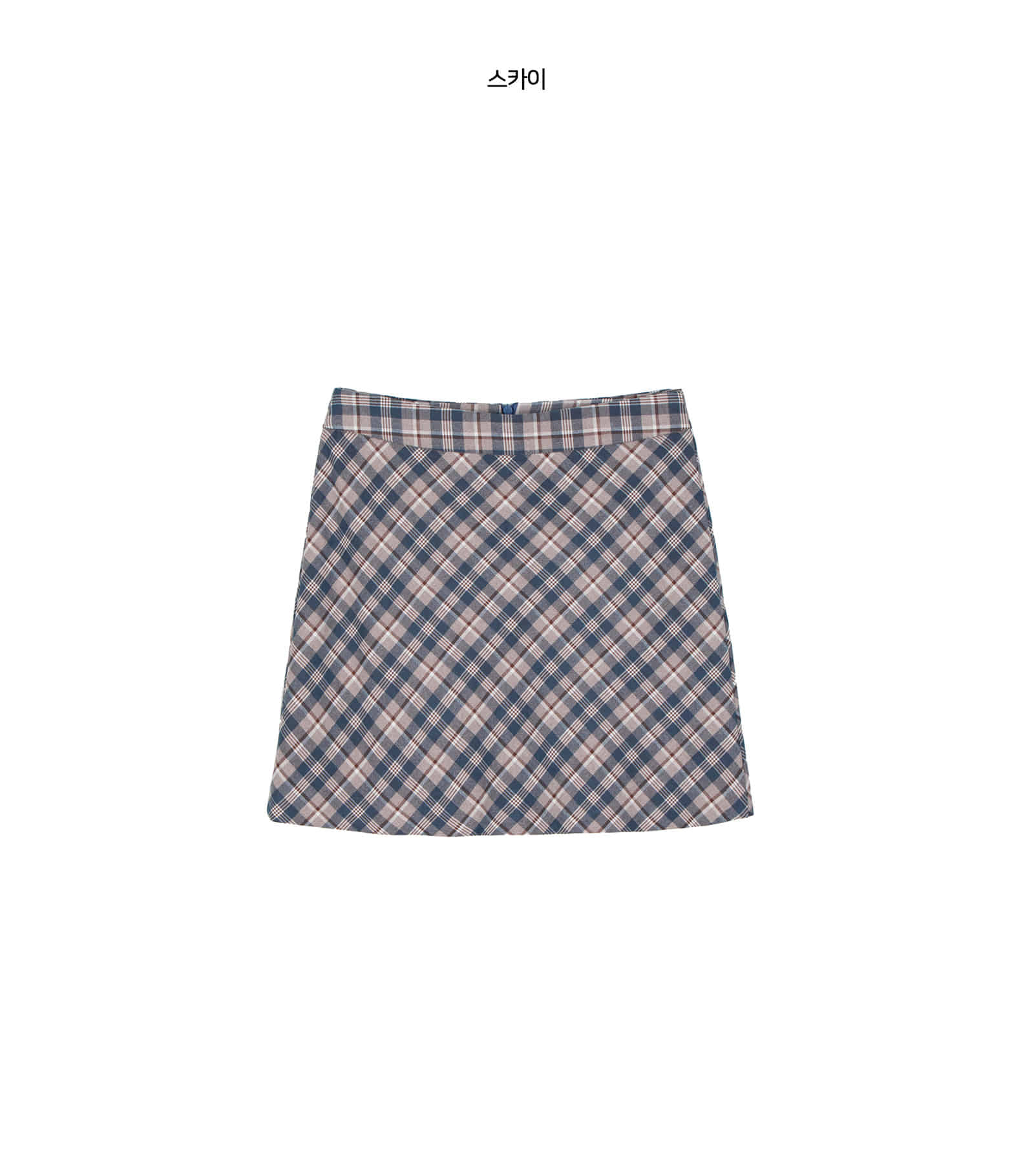 Dermer check mini skirt