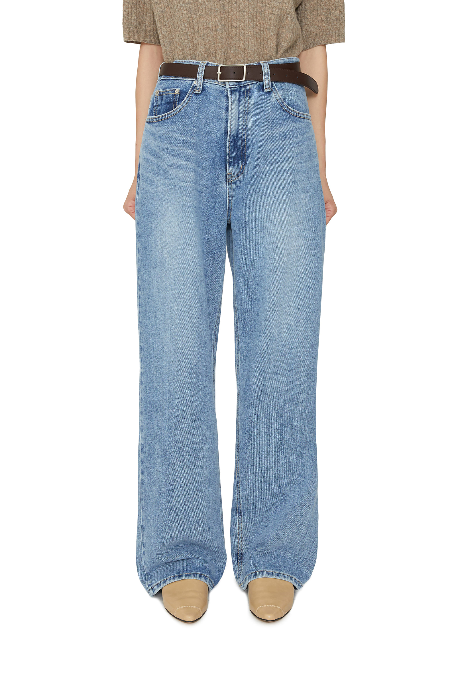 Forge high-rise wide jeans