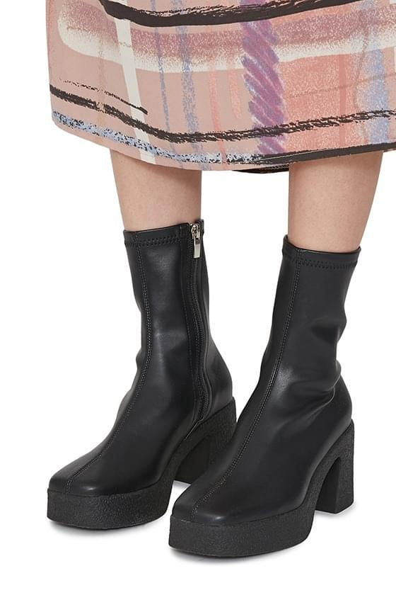 Face high heel ankle boots