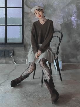 Wool V-neck Miley Knit