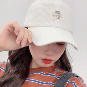 Patch lined ball cap 帽子