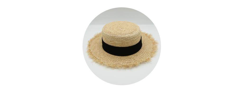 Classic Fringe Raffia Hat