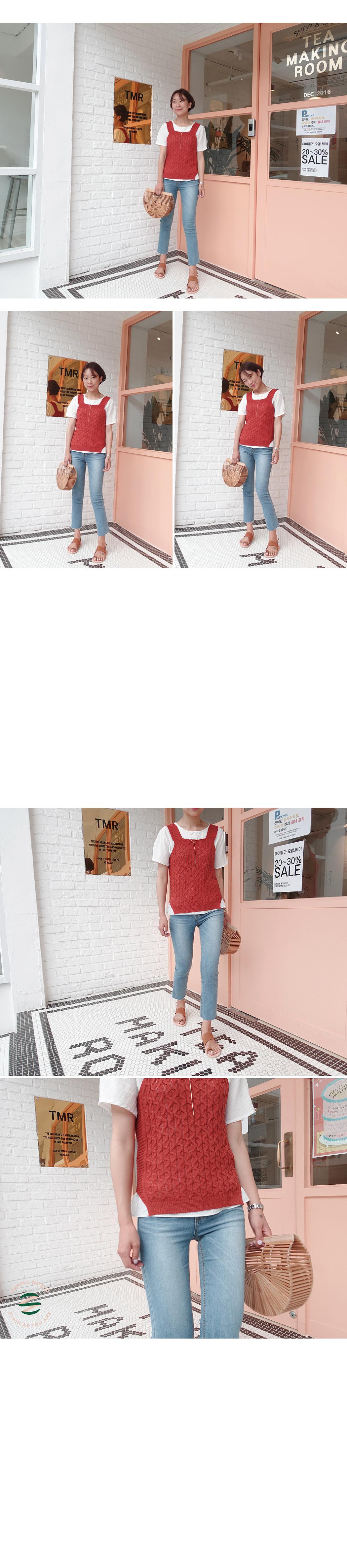 Bite-knitted vest