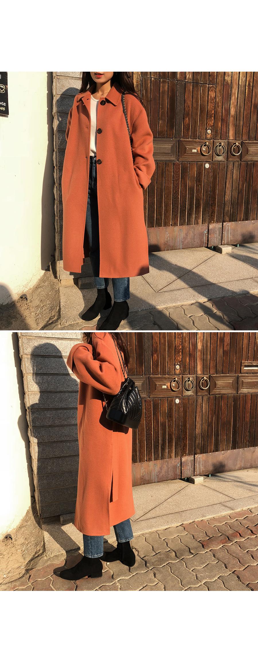 Mild single handmade coat