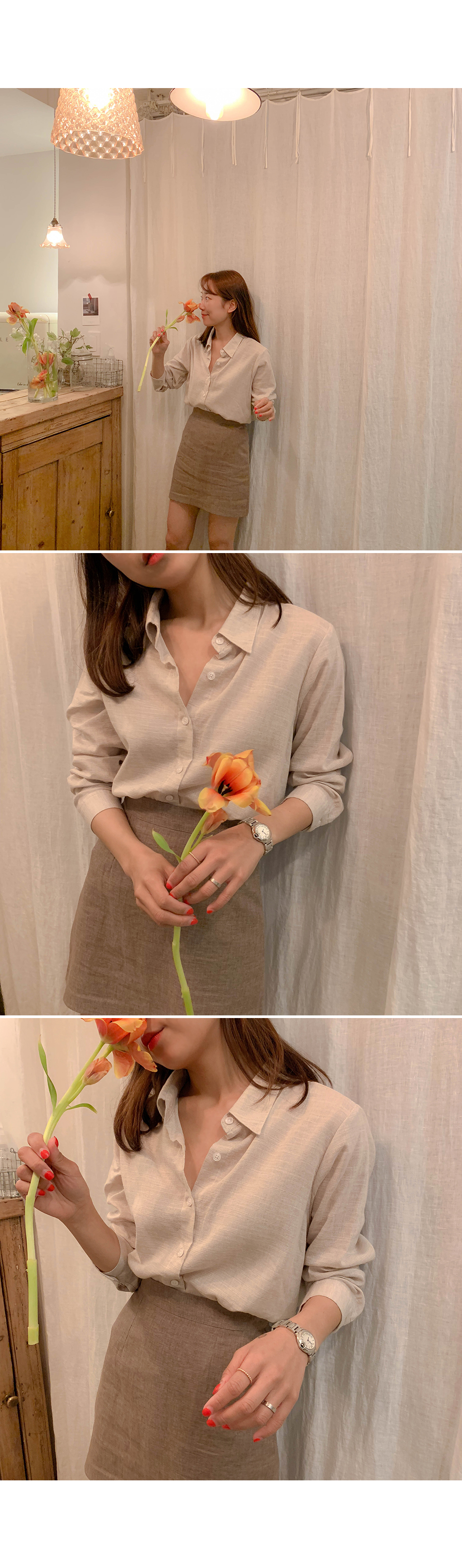 Mist natural cotton shirt
